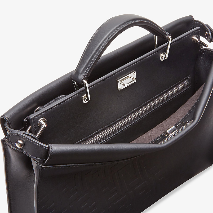 FENDI PEEKABOO ICONIC FIT - Black, calf leather bag - view 5 detail