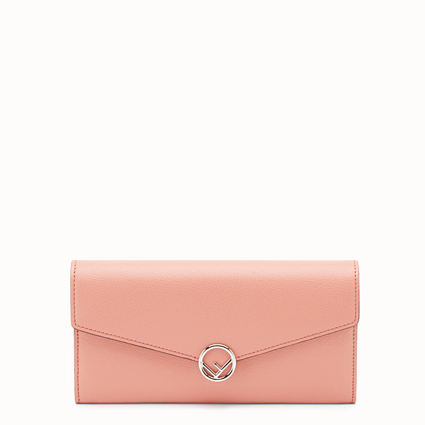 FENDI CONTINENTAL WITH CHAIN - Pink leather wallet - view 1 small thumbnail