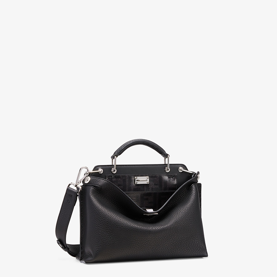 FENDI PEEKABOO ICONIC ESSENTIALLY - Black leather bag - view 2 detail