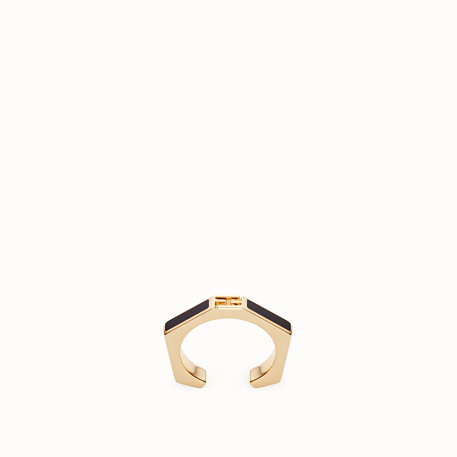 FENDI BAGUETTE RING - Black enamelled ring - view 1 detail