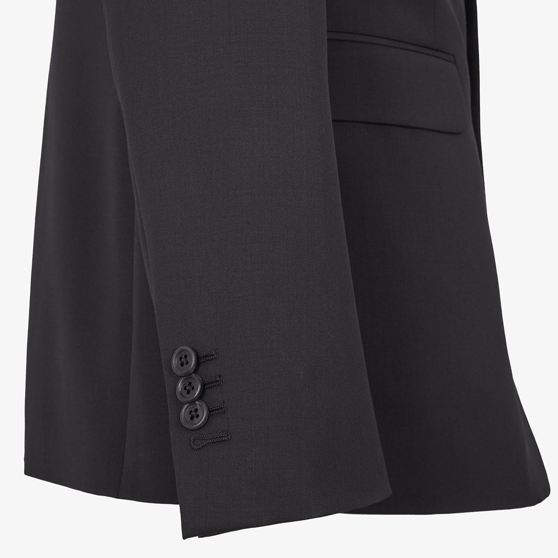 FENDI ABITO - Completo in lana nera - vista 3 dettaglio
