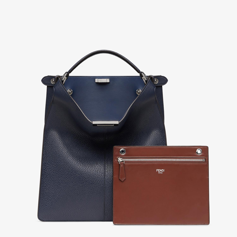 FENDI PEEKABOO ISEEU TOTE - Dark blue leather bag - view 3 detail