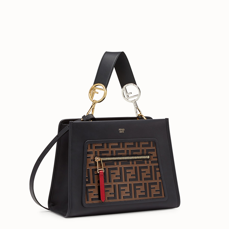 FENDI RUNAWAY SMALL - Multicolour leather bag - view 2 detail