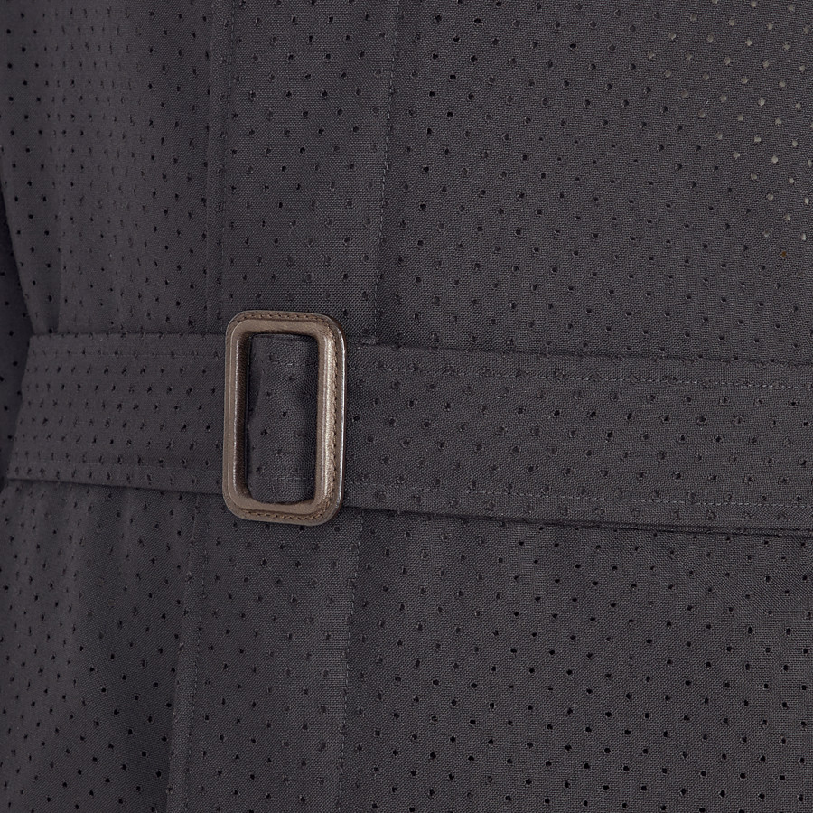 FENDI TRENCH COAT - Black twill trench coat - view 3 detail