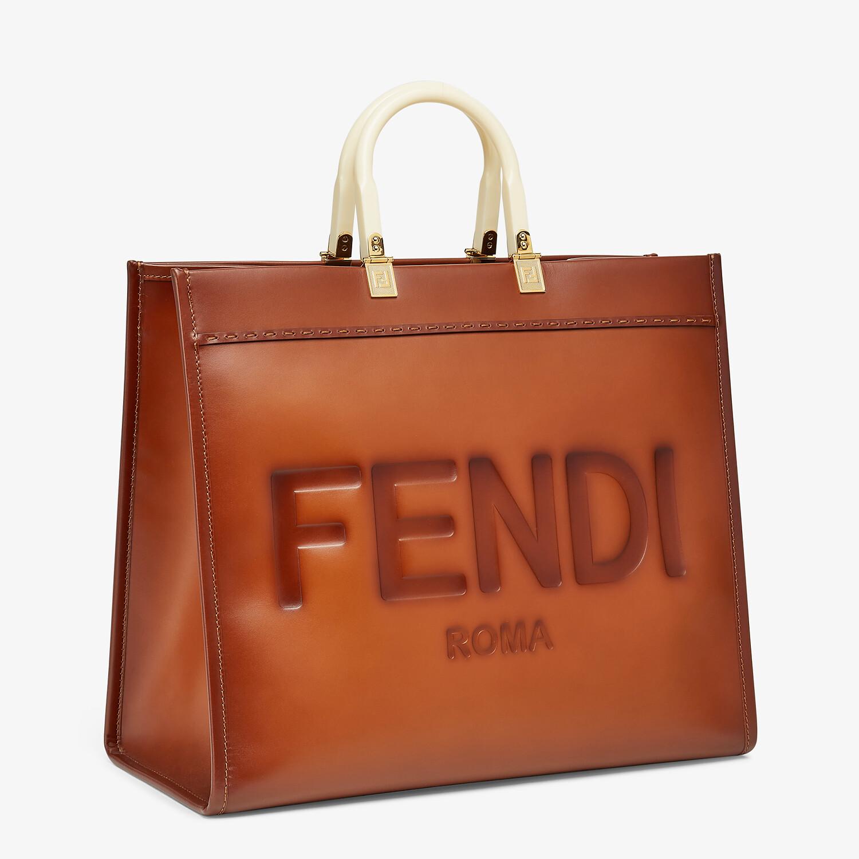FENDI FENDI SUNSHINE LARGE - Natural leather shopper - view 3 detail