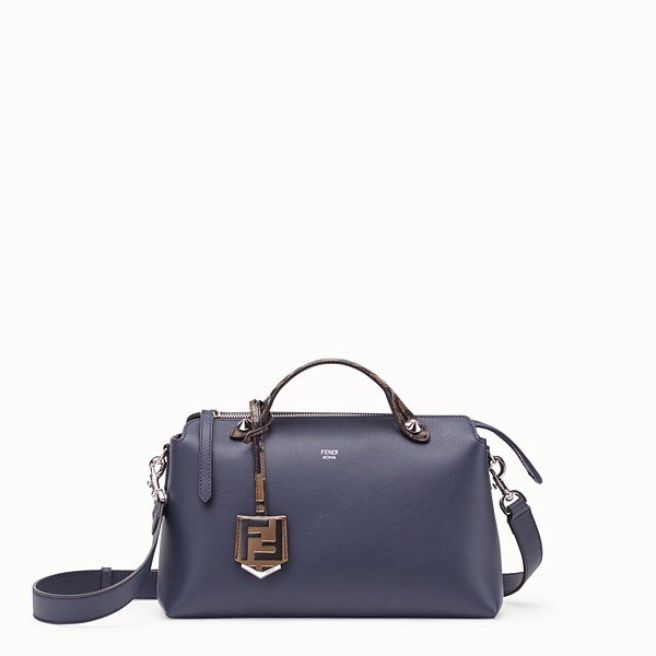 FENDI BY THE WAY MEDIUM - Blue leather Boston bag - view 1 small thumbnail