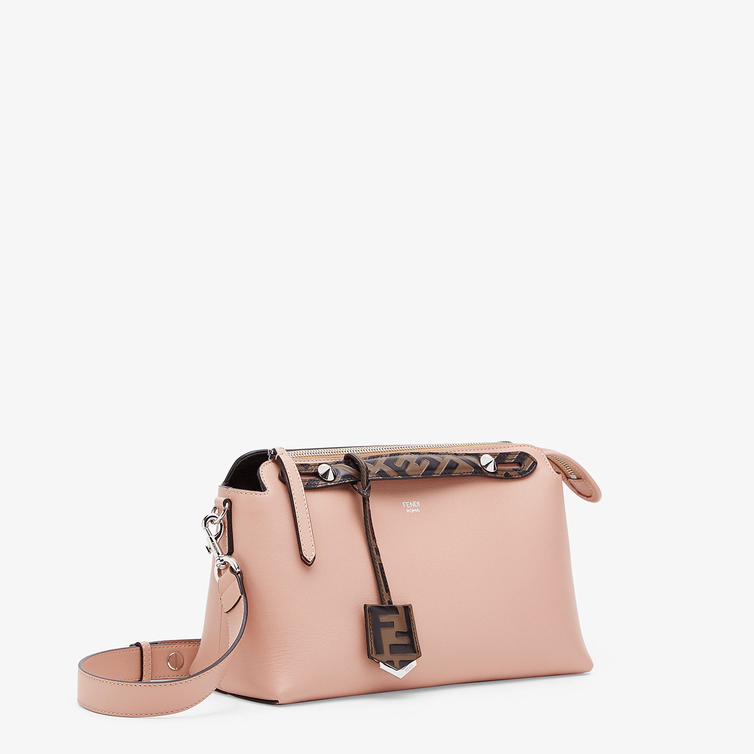 FENDI BY THE WAY MEDIUM - Boston Bag aus Leder in Rosa - view 2 detail