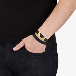 FENDI DOUBLE TOUR BRACELET - Black and blue leather bracelet - view 3 thumbnail