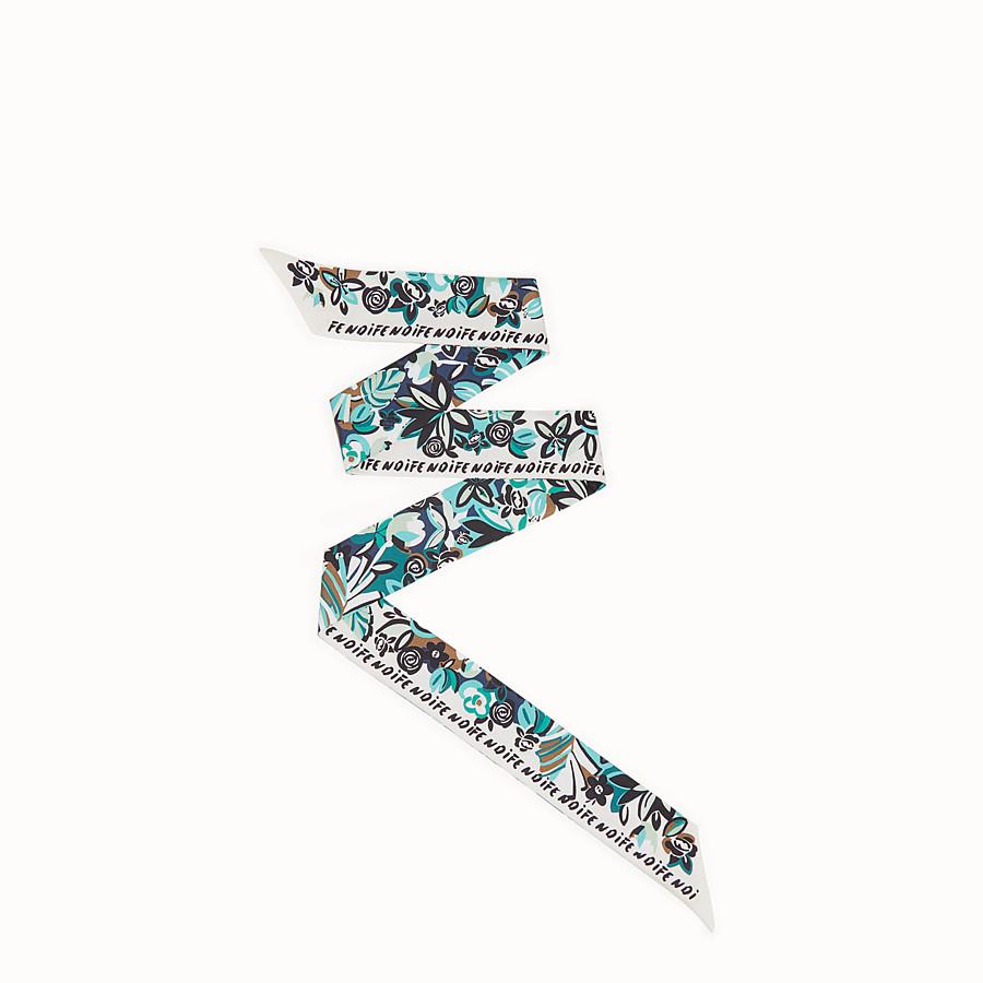 FENDI WRAPPY FLOWERS - Bandeau in seta multicolor - vista 1 dettaglio