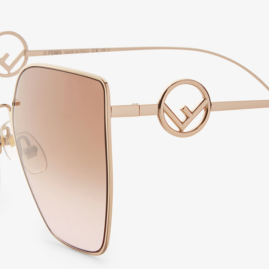 FENDI F IS FENDI - Gold-colored sunglasses - view 3 detail