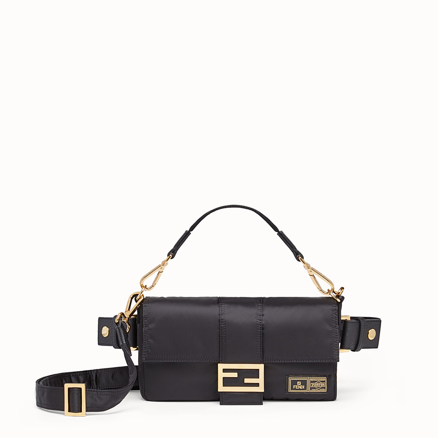 FENDI BAGUETTE FENDI AND PORTER - Black nylon bag - view 1 detail