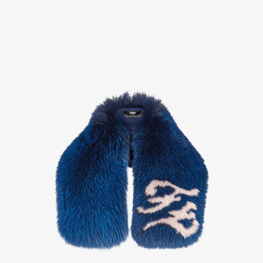 FENDI COLLAR - Blue fox fur collar - view 1 detail