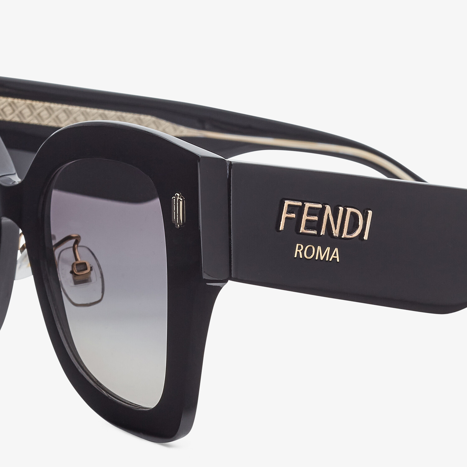 FENDI FENDI ROMA - Black acetate sunglasses - view 3 detail