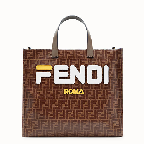 FENDI SHOPPER - Multicolour fabric bag - view 1 small thumbnail