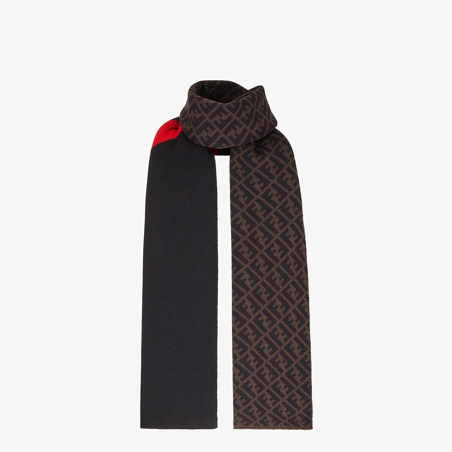 FENDI SCARF - Multicolour wool scarf - view 1 detail