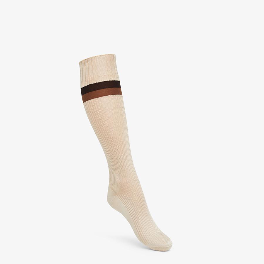 FENDI SOCKS - Beige silk socks - view 1 detail