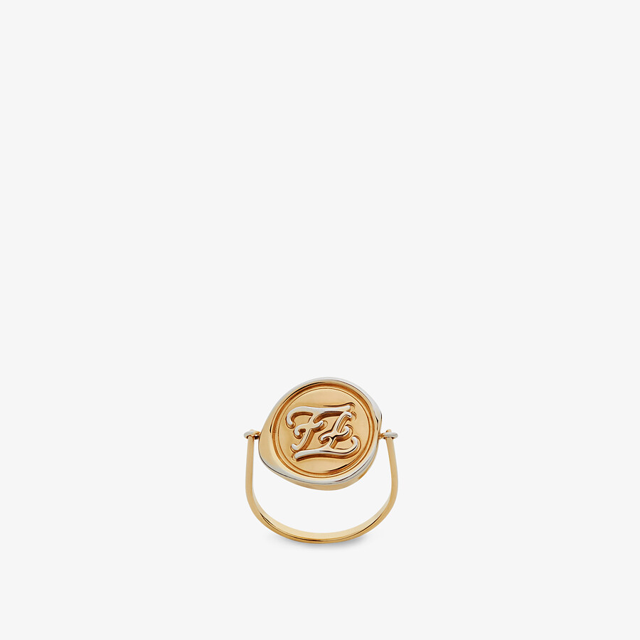 FENDI KARLIGRAPHY RING - Gold-colored ring - view 2 detail