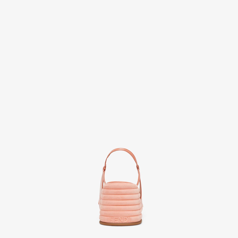 FENDI SLINGBACK - Pink leather Promenades - view 3 detail