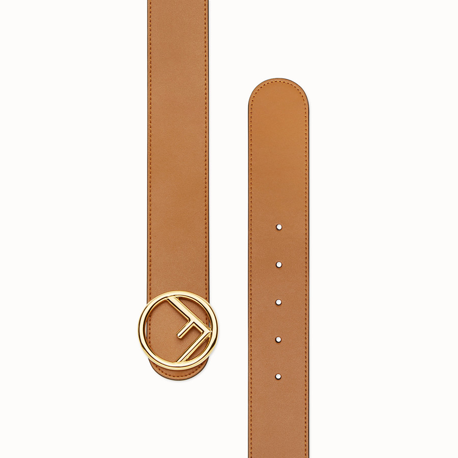 FENDI F IS FENDI BELT - Brown leather belt - view 2 detail