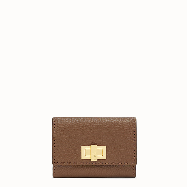 FENDI CONTINENTAL MEDIUM - Brown leather wallet - view 1 small thumbnail
