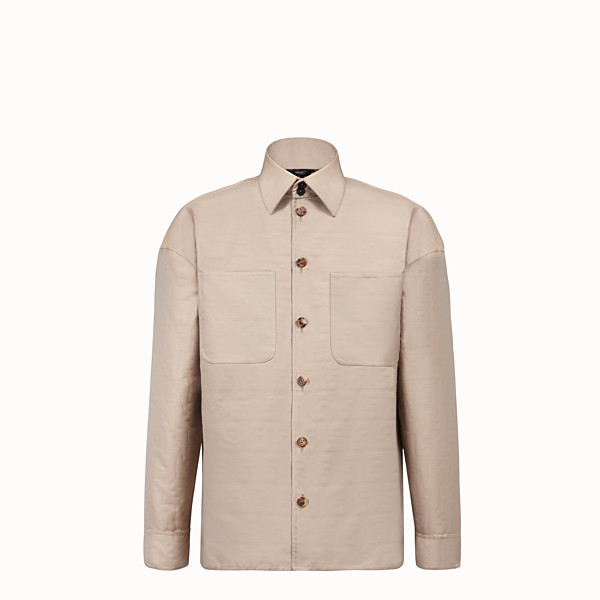FENDI BLOUSON JACKET - Beige nylon jacket - view 1 small thumbnail