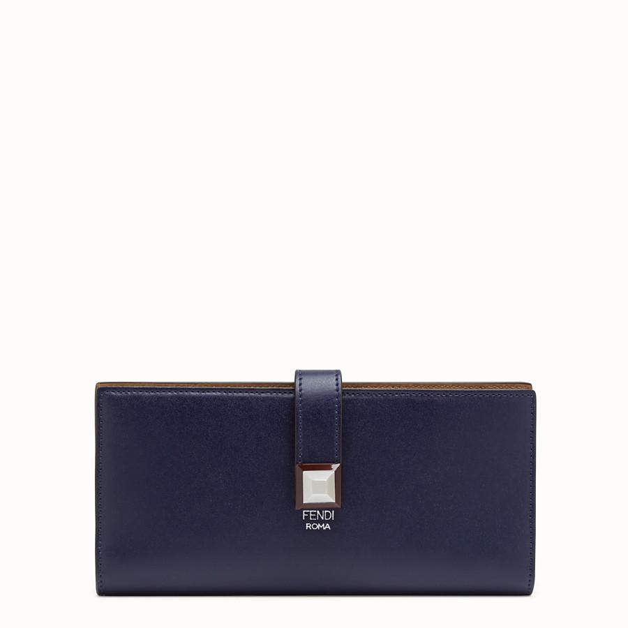 FENDI WALLET - Blue leather continental wallet - view 1 detail