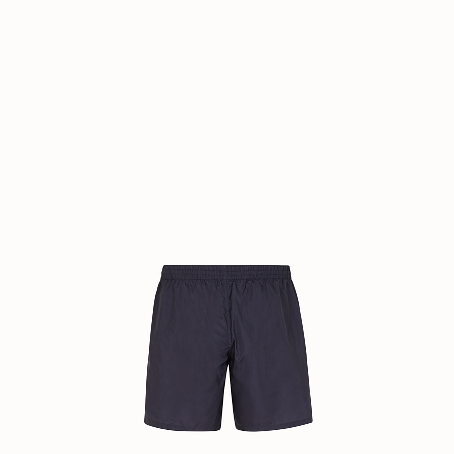 FENDI SWIM SHORTS - Blue tech fabric swimsuit - view 2 detail
