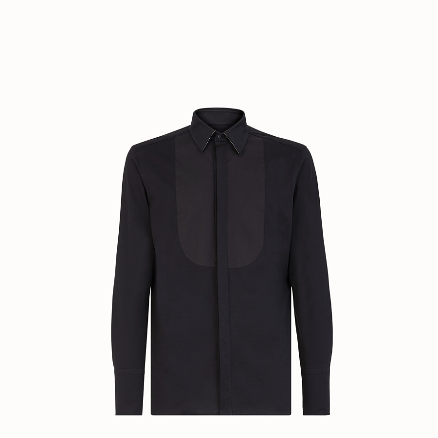 FENDI SHIRT - Black jersey shirt - view 1 detail