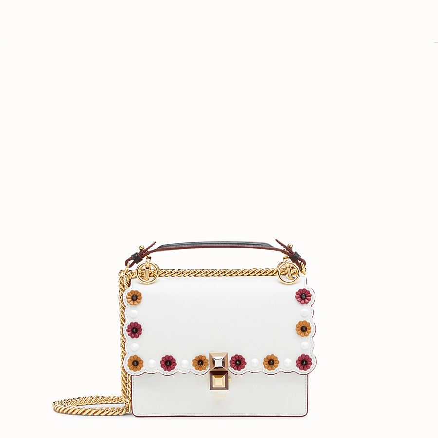 FENDI KAN I SMALL - White leather mini-bag - view 1 detail
