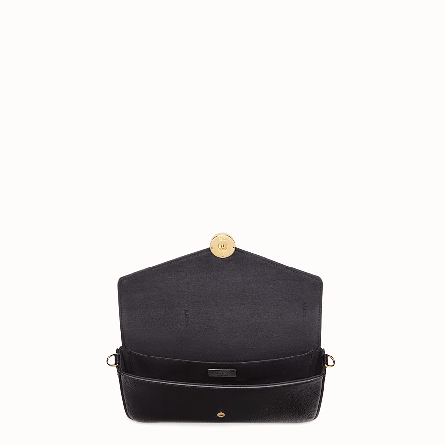 f90401884f Black leather minibag - WALLET ON CHAIN WITH POUCHES | Fendi