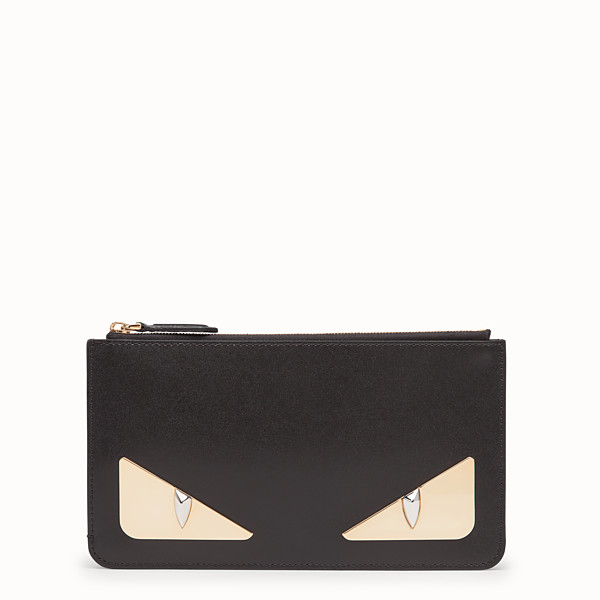 FENDI FLACHE CLUTCH - Pochette aus Leder in Schwarz - view 1 small thumbnail