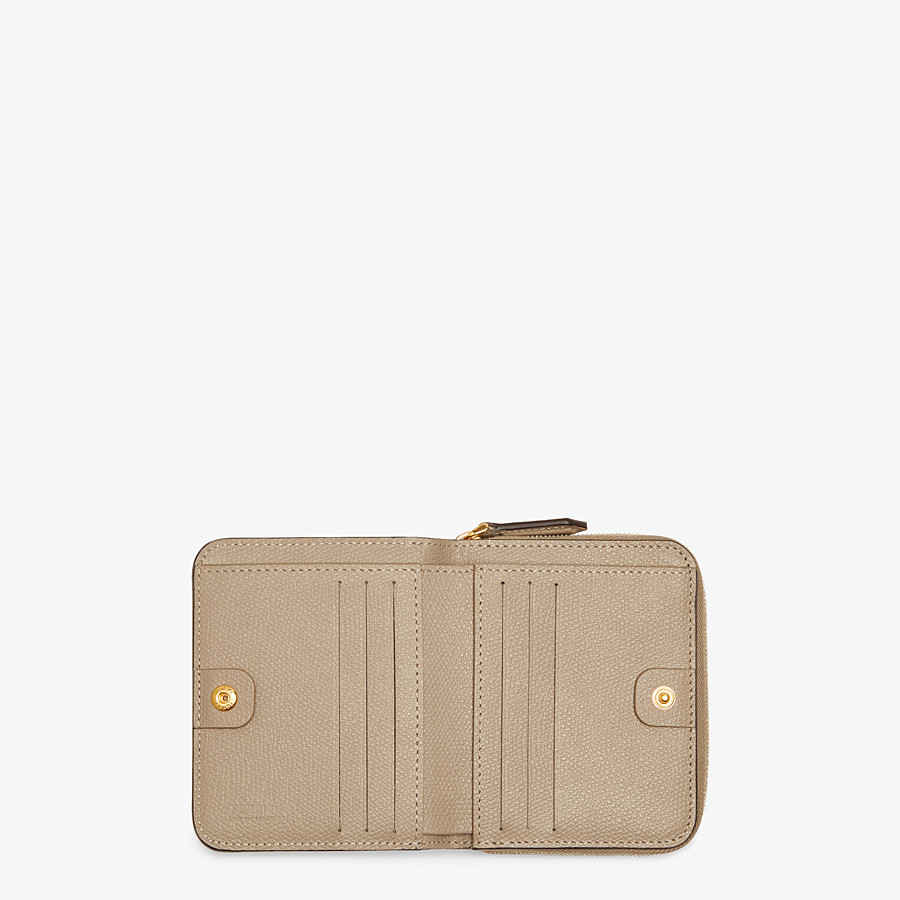 FENDI MEDIUM ZIP-AROUND - Beige leather wallet - view 4 detail
