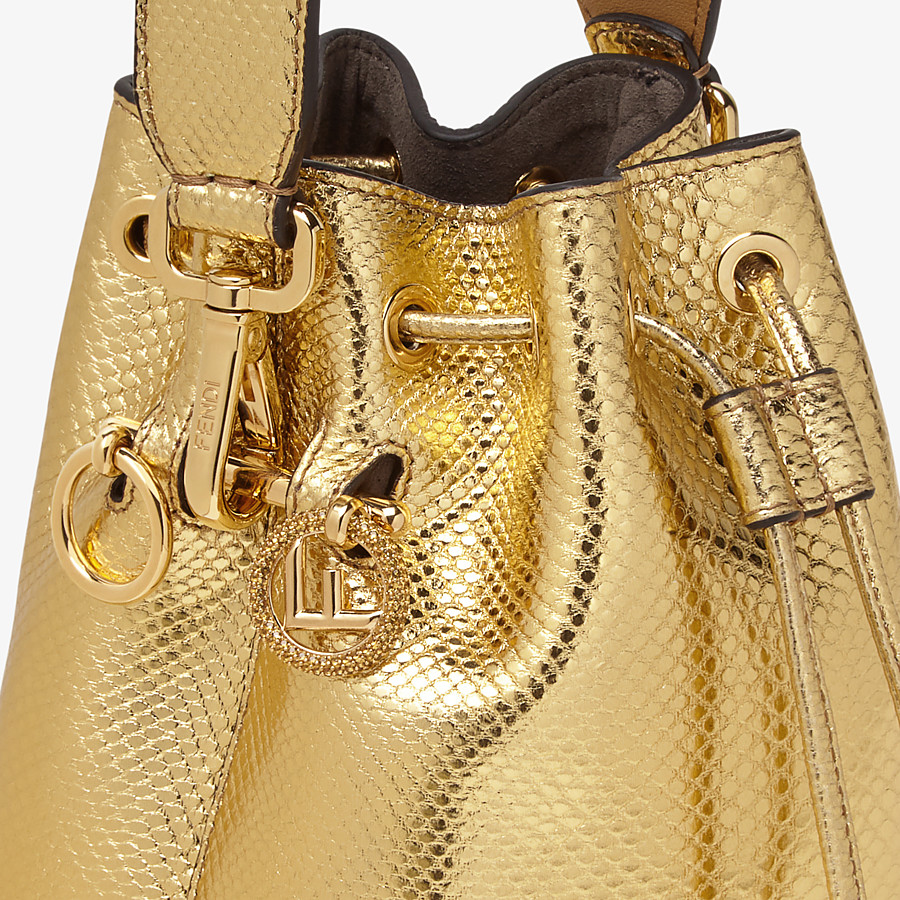 FENDI MON TRESOR - Gold colored karung mini-bag - view 5 detail