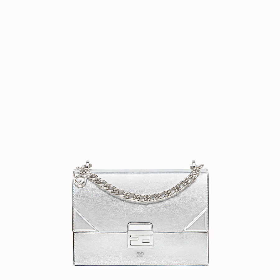 FENDI KAN U - Silver leather bag - view 1 detail
