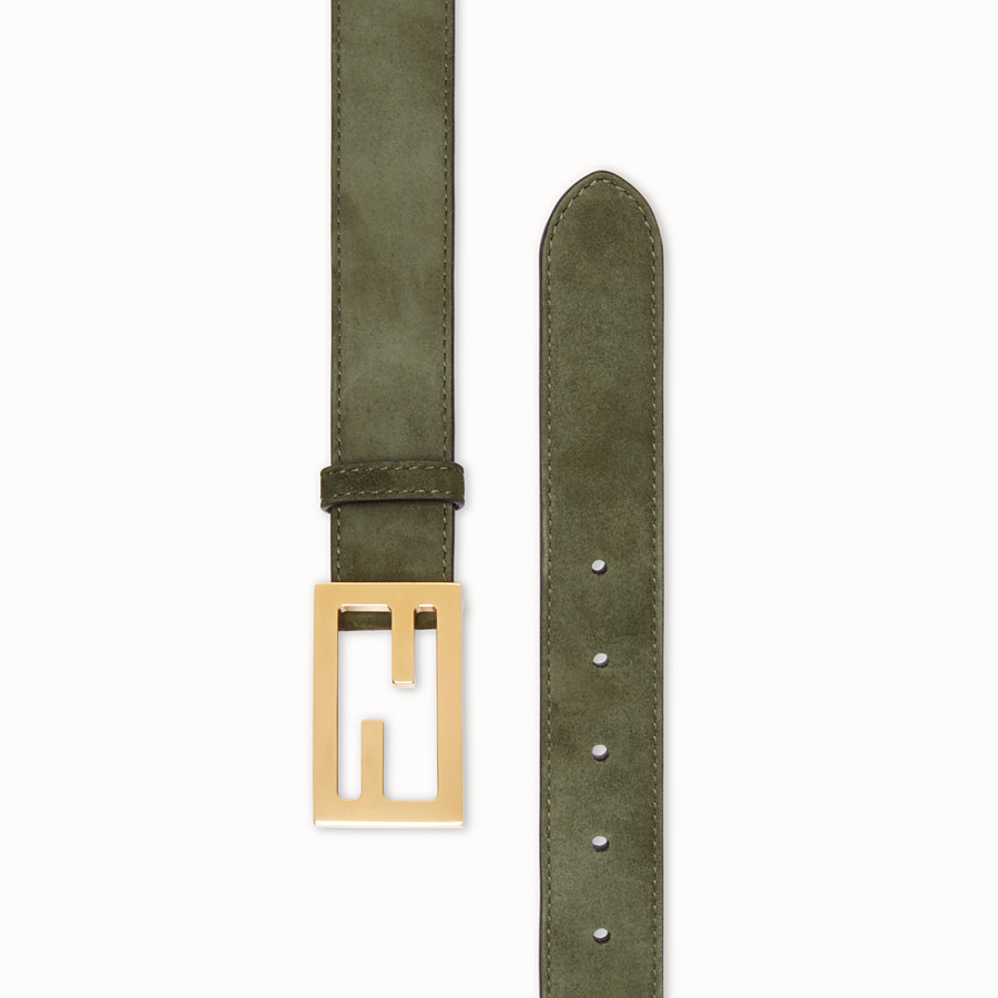 FENDI BELT - Green suede leather belt - view 2 detail