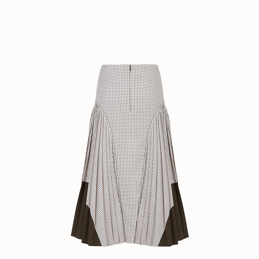 FENDI SKIRT - Green wool skirt - view 2 detail