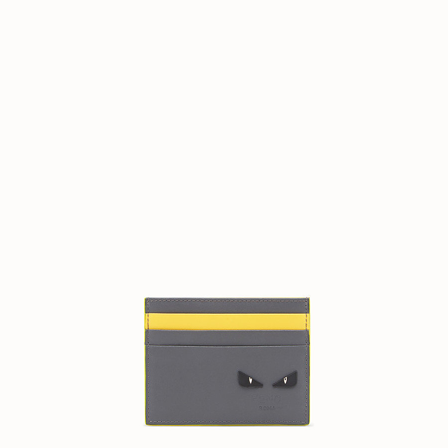 FENDI CARD HOLDER - Two-tone leather card holder - view 1 detail