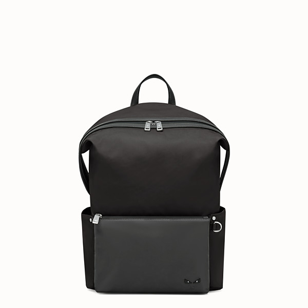 FENDI BACKPACK - Black nylon and leather backpack - view 1 small thumbnail