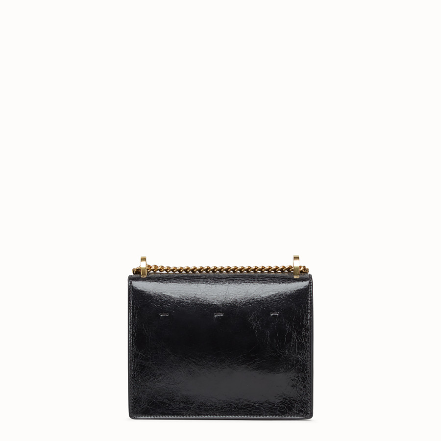 FENDI KAN U SMALL - Black leather mini-bag - view 3 detail