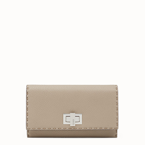 FENDI CONTINENTAL - Selleria cord-colored continental wallet - view 1 small thumbnail