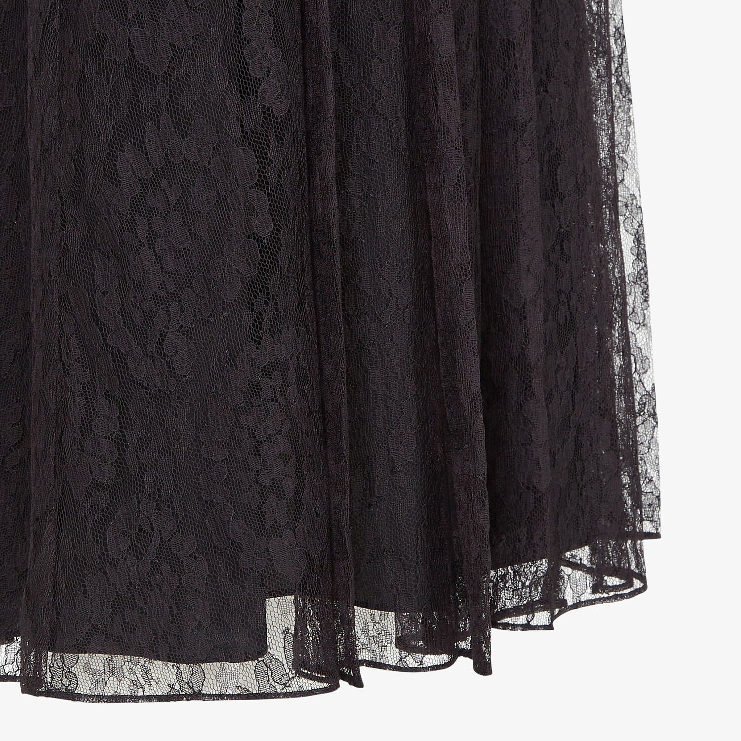 FENDI SKIRT - Black lace skirt - view 3 detail