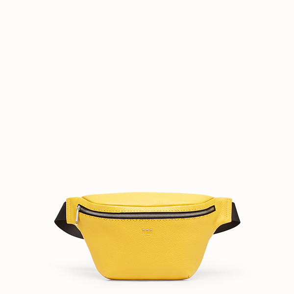 FENDI BELT BAG - Yellow leather belt bag - view 1 small thumbnail