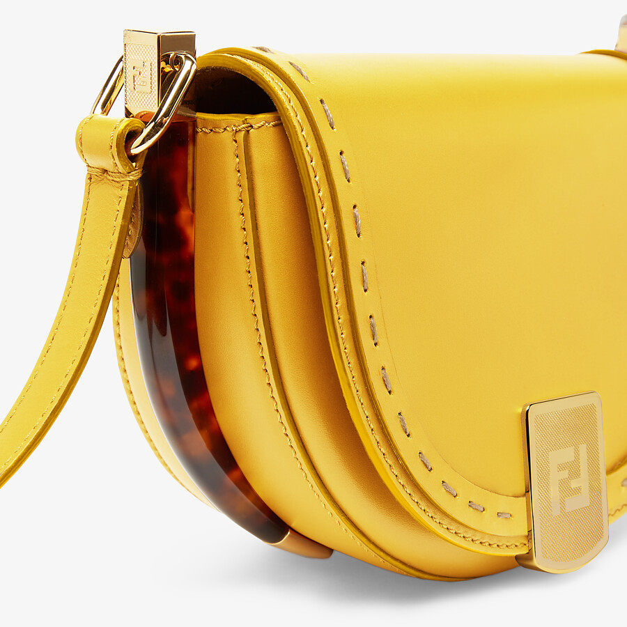 FENDI MOONLIGHT - Yellow leather bag - view 5 detail