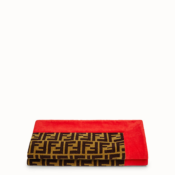 FENDI BEACH TOWEL - Multicolour terry towel - view 1 small thumbnail
