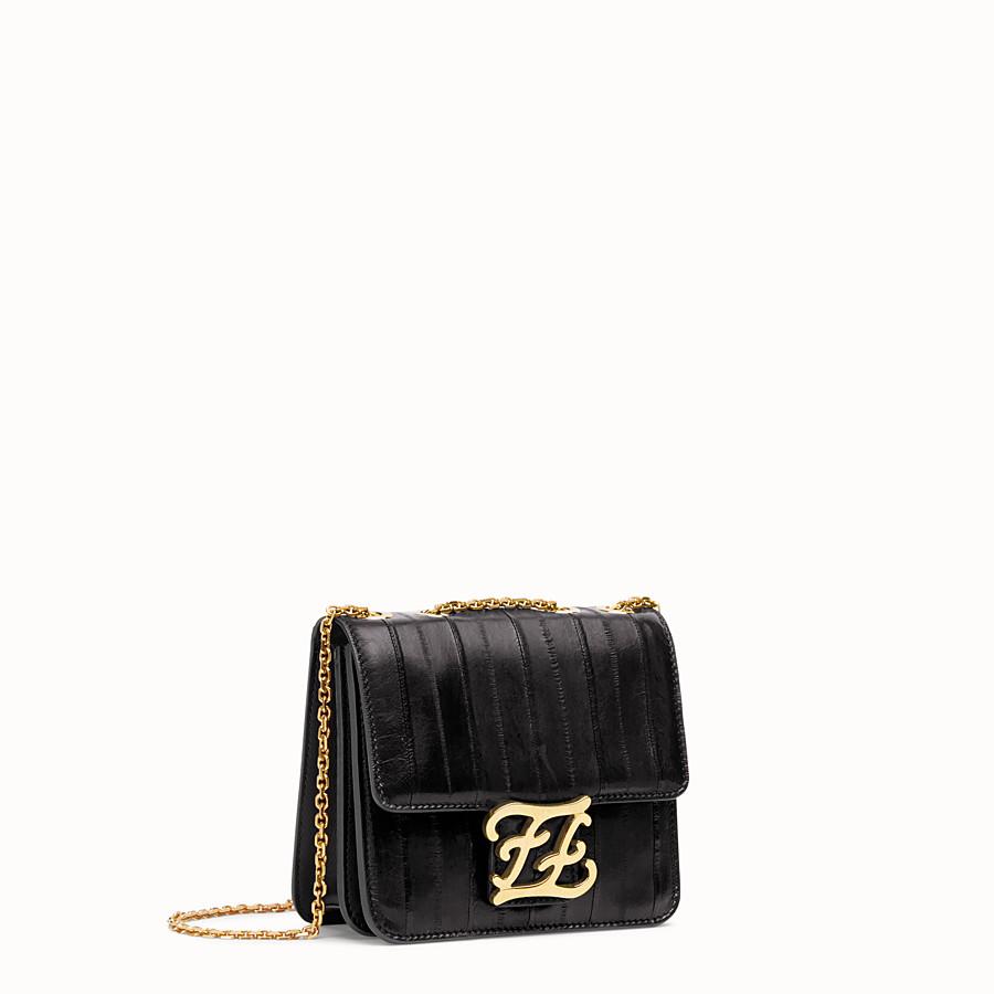 FENDI KARLIGRAPHY - Black eel leather bag - view 2 detail