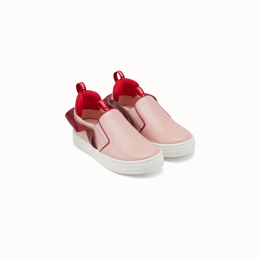 FENDI SLIP-ONS - Pink leather slip-ons - view 2 detail