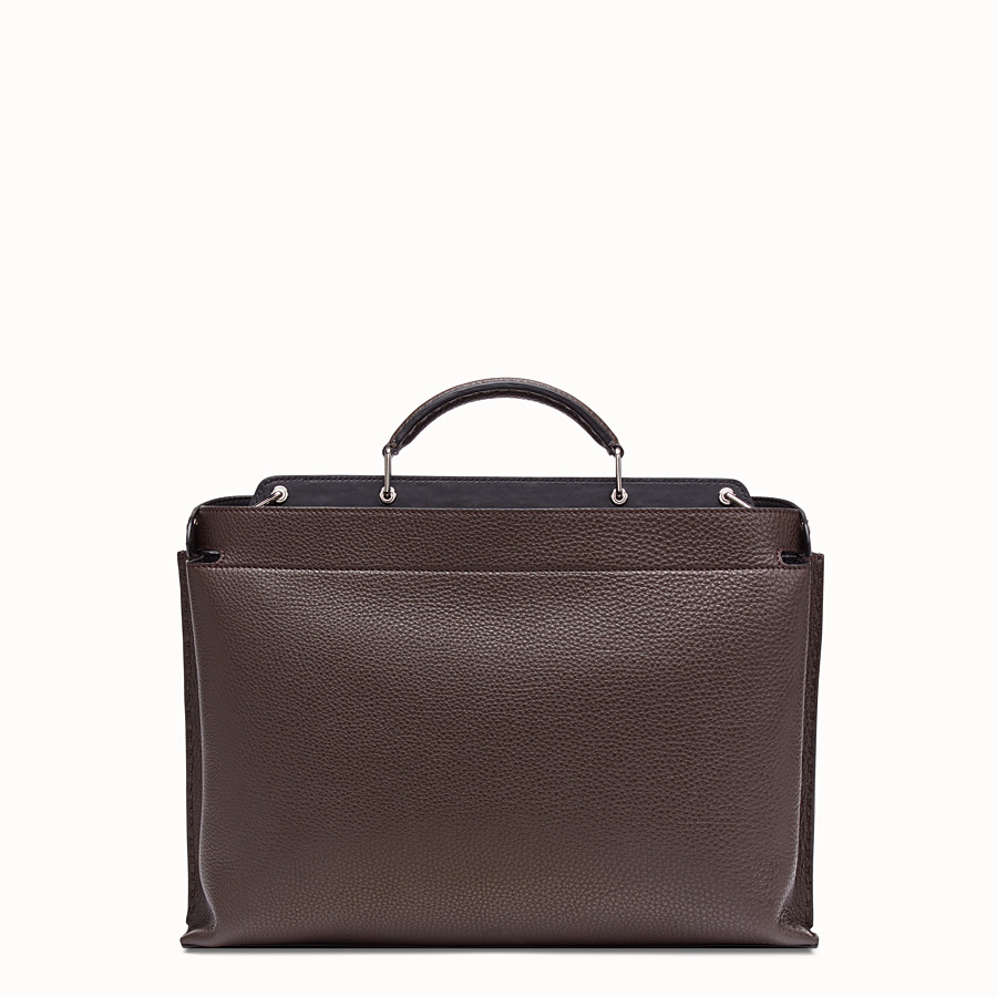 FENDI PEEKABOO ICONIC ESSENTIAL - Brown calfskin bag - view 3 detail