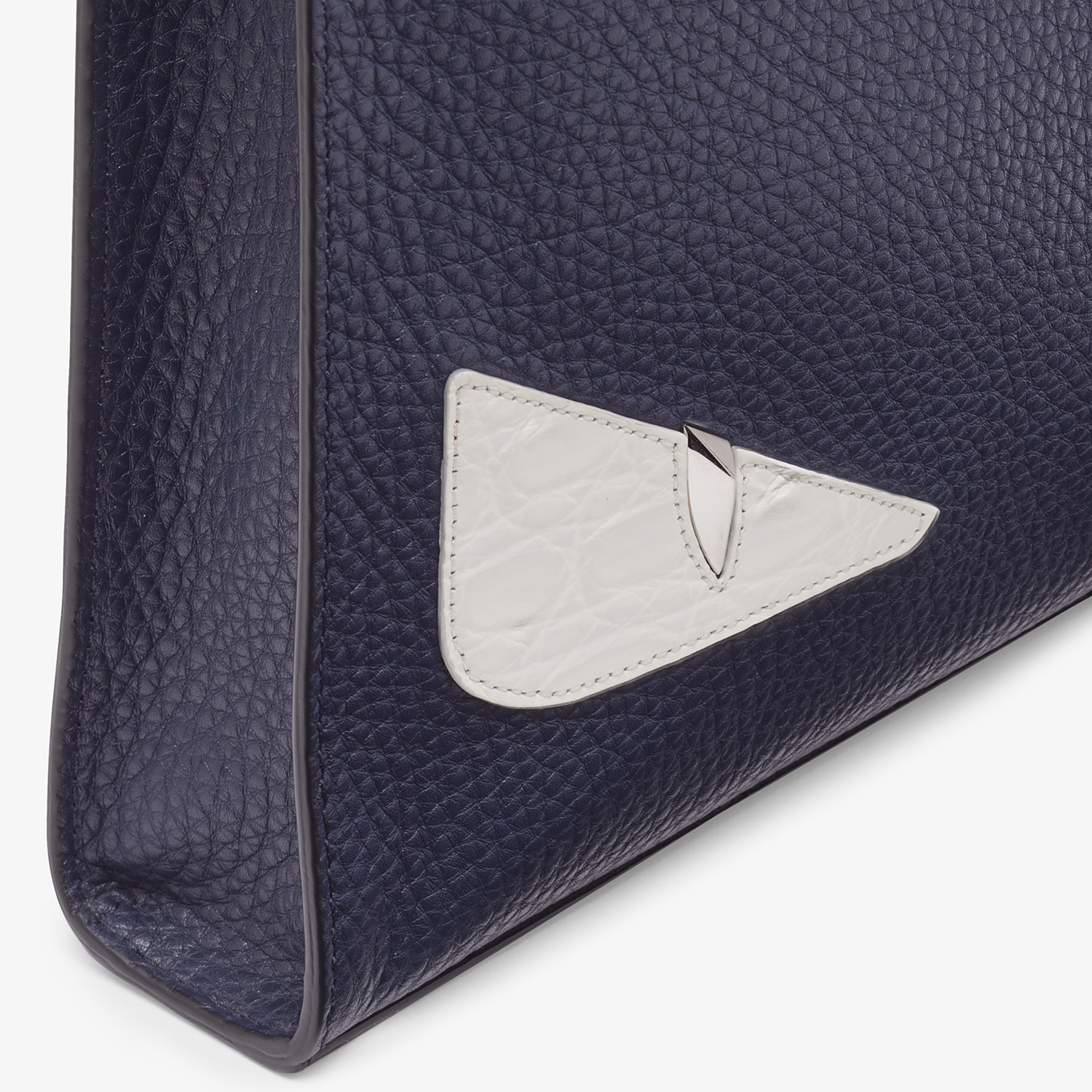 FENDI CLUTCH - Blue leather pochette - view 5 detail