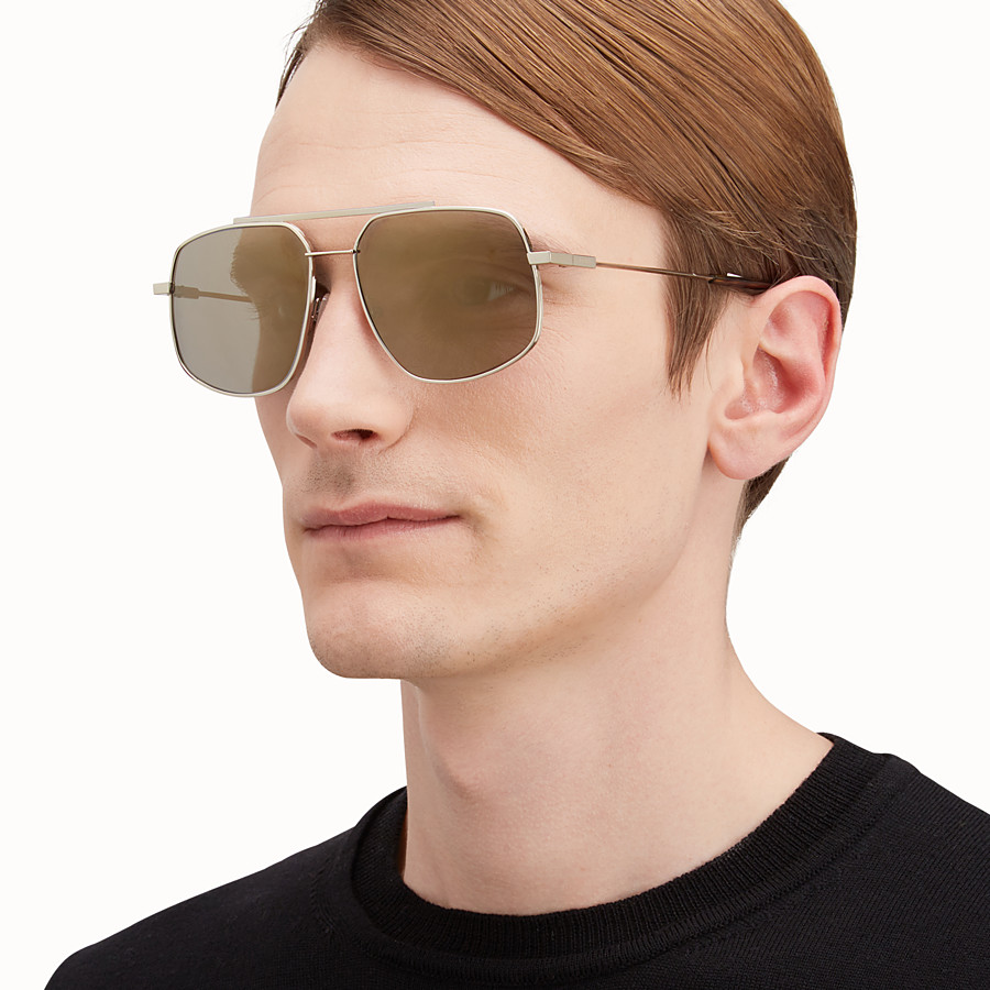 FENDI FENDI AIR - Gold-coloured sunglasses - view 4 detail