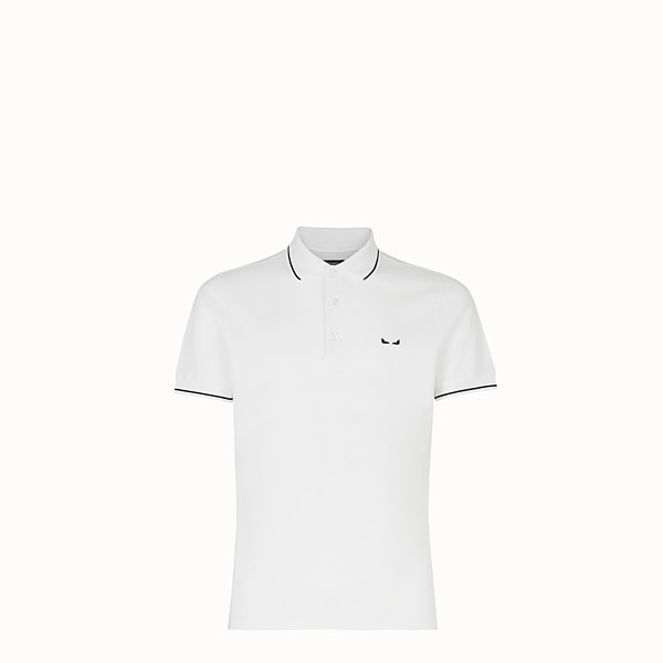 FENDI POLO SHIRT - White cotton jumper - view 1 small thumbnail